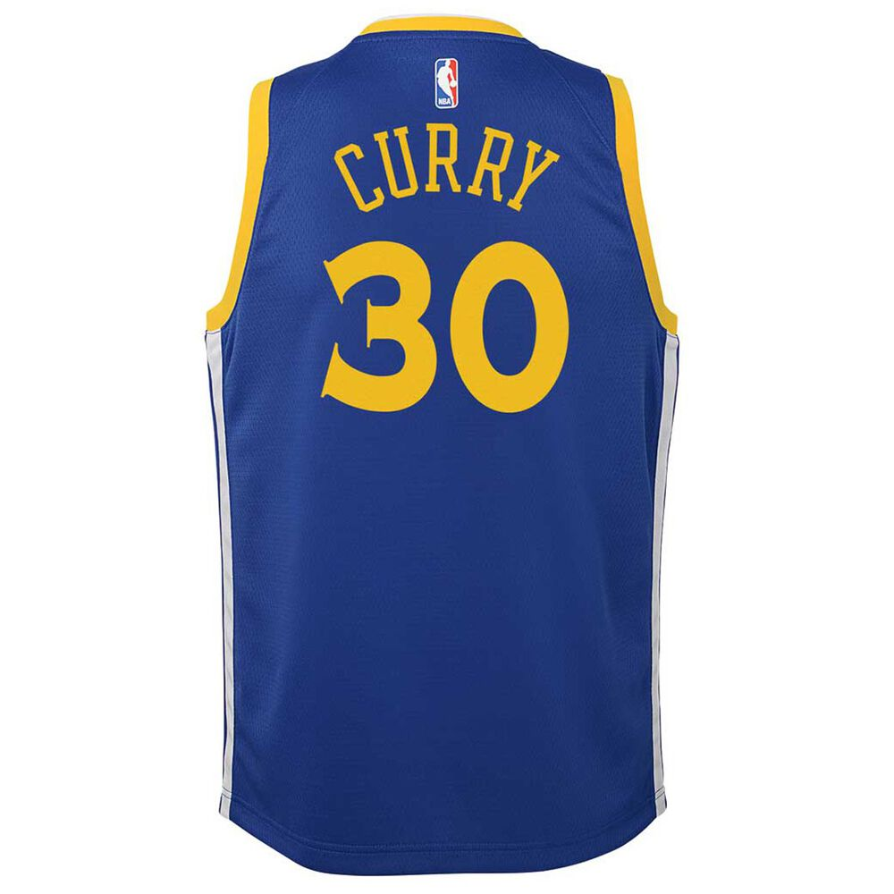 pretty nice 7a912 94550 Nike Golden State Warriors Stephen Curry 2018 Kids Swingman Jersey Rush  Blue S