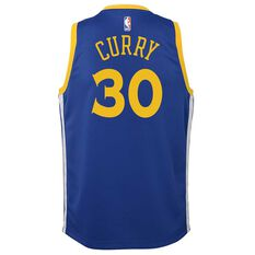 Nike Golden State Warriors Stephen Curry 2019 Kids Swingman Jersey Rush Blue S, Rush Blue, rebel_hi-res