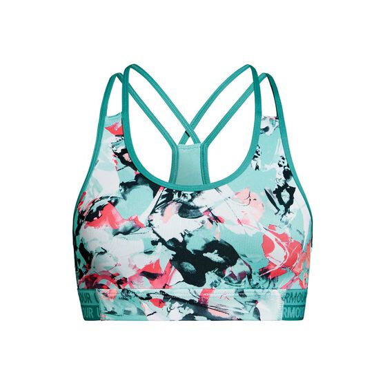 Under Armour Girls HeatGear Novelty Bra Turquoise XL, Turquoise, rebel_hi-res