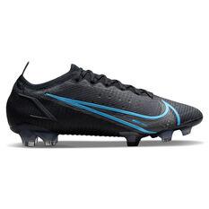 Nike Mercurial Vapor 14 Elite Football Boots Black/Grey US Mens 4 / Womens 5.5, Black/Grey, rebel_hi-res