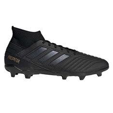adidas Predator 19.3 Football Boots Black / Gold US Mens 7 / Womens 8, Black / Gold, rebel_hi-res