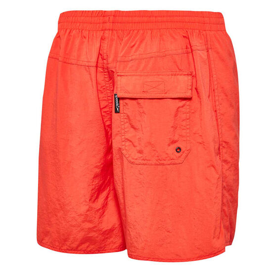 Speedo Mens Solid Board Shorts, Red, rebel_hi-res