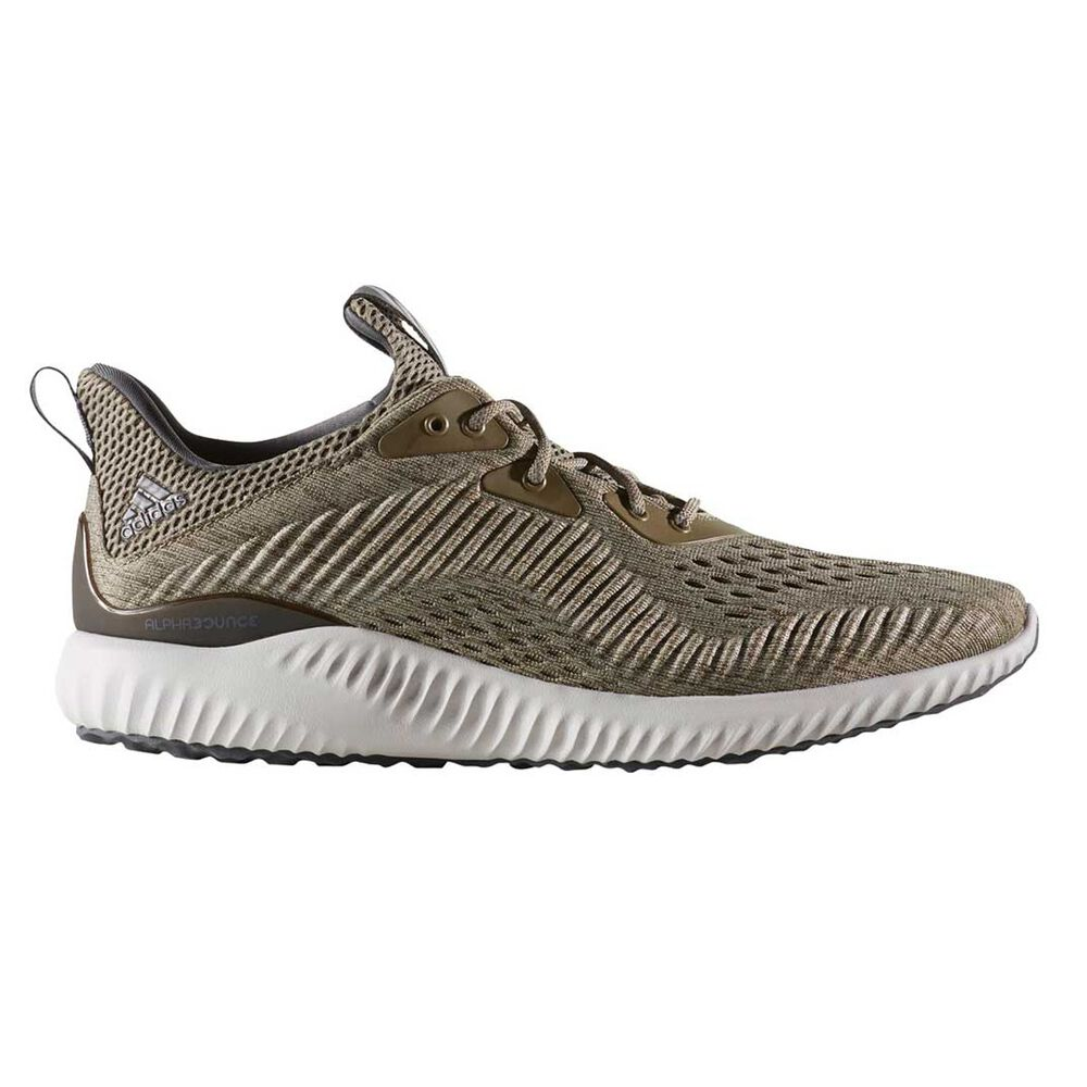 10692ad2287 adidas AlphaBounce EM Mens Running Shoes Green   White US 10