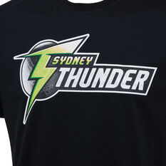 Sydney Thunder 2019/20 Mens Supporter Tee Black S, Black, rebel_hi-res