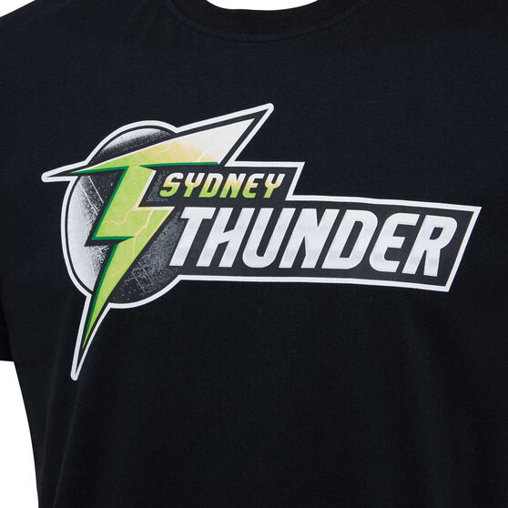 Sydney Thunder 2019/20 Mens Supporter Tee, Black, rebel_hi-res