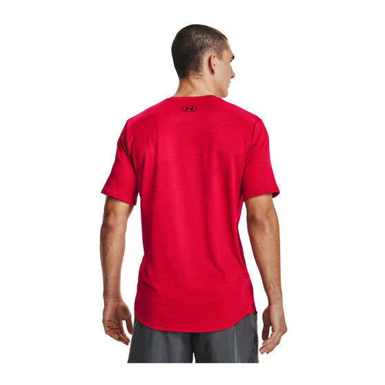 Under Armour Mens Training Vent 2.0 Tee Red L, Red, rebel_hi-res
