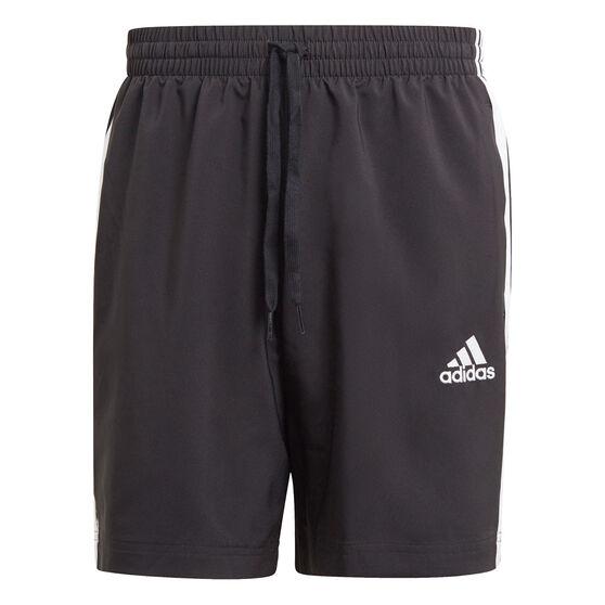 adidas Mens AEROREADY Essentials Chelsea 3-Stripes Shorts, Black, rebel_hi-res