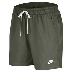 Nike Mens Sportswear Woven Flow Shorts Green XS, Green, rebel_hi-res