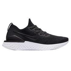 Nike Epic React Flyknit 2 Womens Running Shoes Black US 10, Black, rebel_hi-res