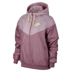 Nike Womens Sportswear Wind runner Jacket Plum XS, Plum, rebel_hi-res