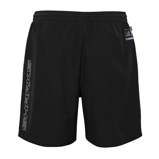 Cronulla-Sutherland Sharks 2021 Kids Sport Shorts, Black, rebel_hi-res