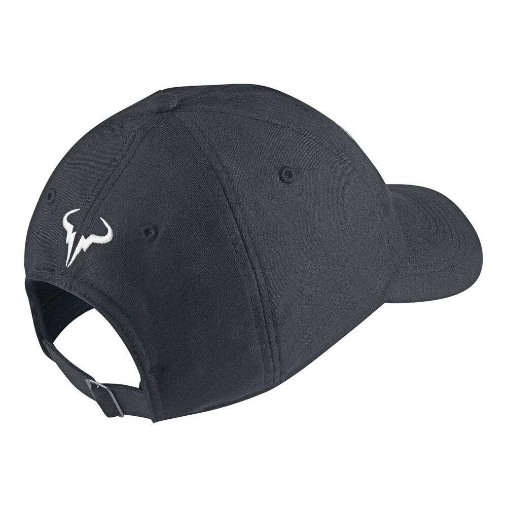 NikeCourt AeroBill Rafa Cap Black   White  2af1e04f541c