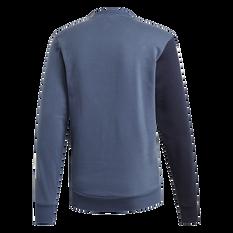 adidas Mens Sport ID Crew Sweatshirt Navy S, Navy, rebel_hi-res