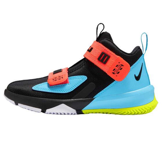 Nike LeBron Soldier XIII Kids Basketball Shoes Black/Blue US 11, Black/Blue, rebel_hi-res