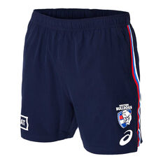 Western Bulldogs 2020 Mens Training Shorts Navy S, Navy, rebel_hi-res