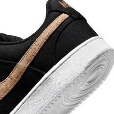 Nike Court Vision Low Canvas Mens Casual Shoes, Black, rebel_hi-res