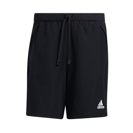 adidas Mens Aeromotion Woven Shorts, Black, rebel_hi-res