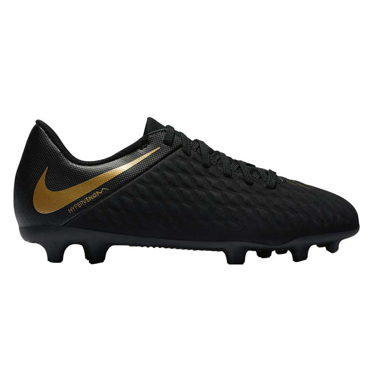 100% authentic c7ee1 f425d ... reduced nike hypervenom phantom iii club kids football boots black gold  us 5 black f0645 55831
