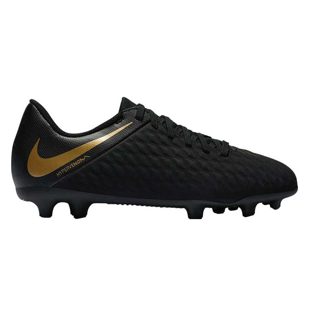 quality design fba07 1ad6e Nike Hypervenom Phantom III Club Kids Football Boots Black   Gold US 1,  Black