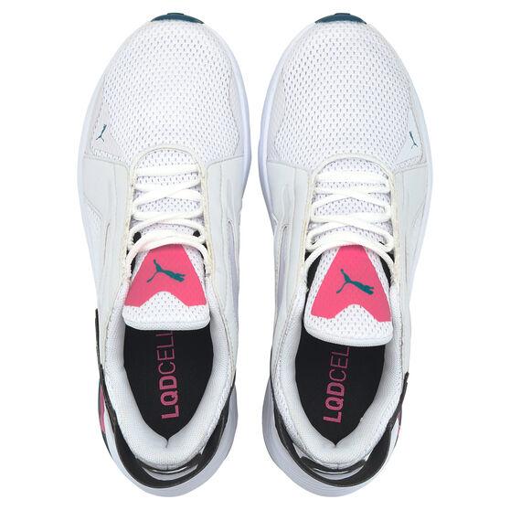 Puma LQDCELL Method Womens Training Shoes, White/Black, rebel_hi-res