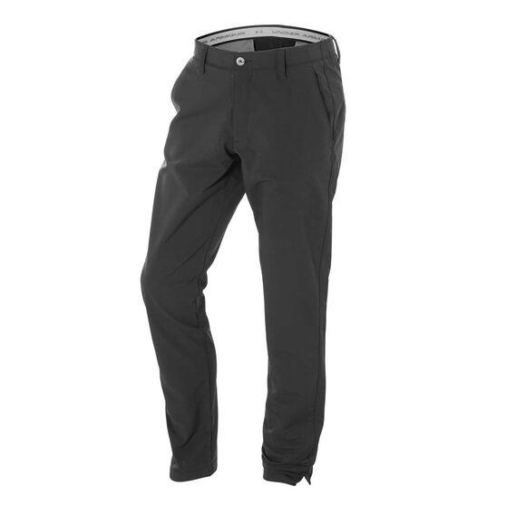 Under Armour Mens Matchplay Tapered Golf Pants, Black / Grey, rebel_hi-res