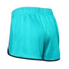 Under Armour Womens UA Tech Mesh 3in Shorts Blue XS, Blue, rebel_hi-res