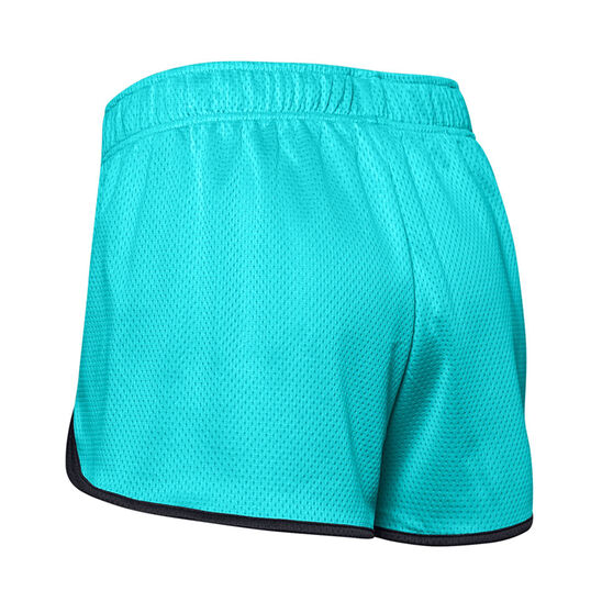 Under Armour Womens UA Tech Mesh 3in Shorts, Blue, rebel_hi-res
