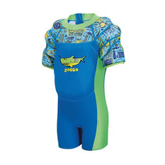 Zoggs Deep Sea Waterwing Floatsuit Blue 1 - 2 Years, Blue, rebel_hi-res