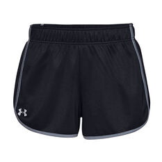 Under Armour Womens UA Tech Mesh 3in Shorts Black XS, Black, rebel_hi-res