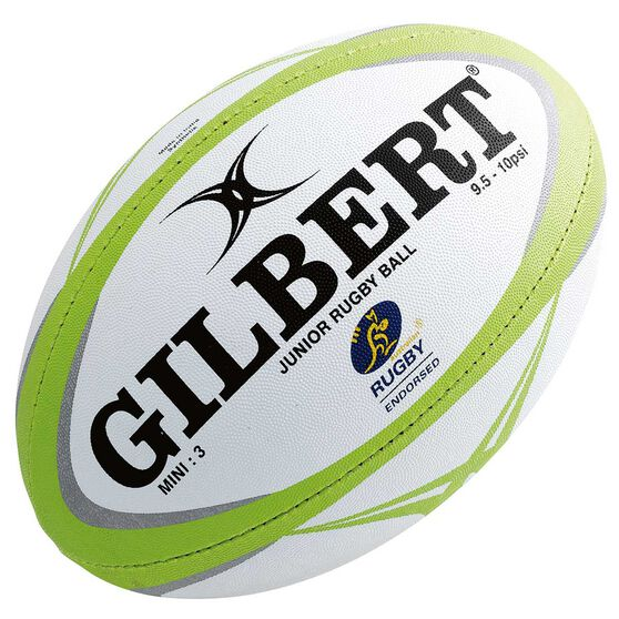 Gilbert Zenon Pathways Mini Rugby Ball White / Green 3, , rebel_hi-res