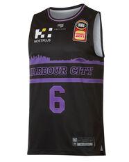 Sydney Kings Andrew Bogut City Edition 2019/20 Mens Jersey Black / Purple S, Black / Purple, rebel_hi-res