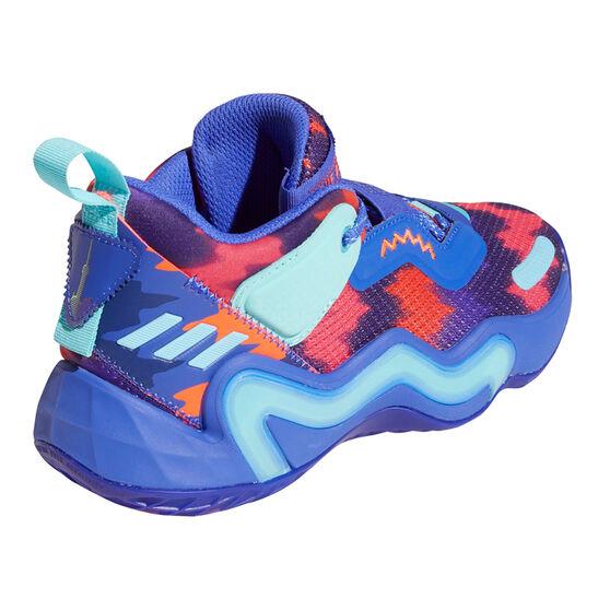 adidas D.O.N. Issue 3 Kids Basketball Shoes Purple US 7, Purple, rebel_hi-res