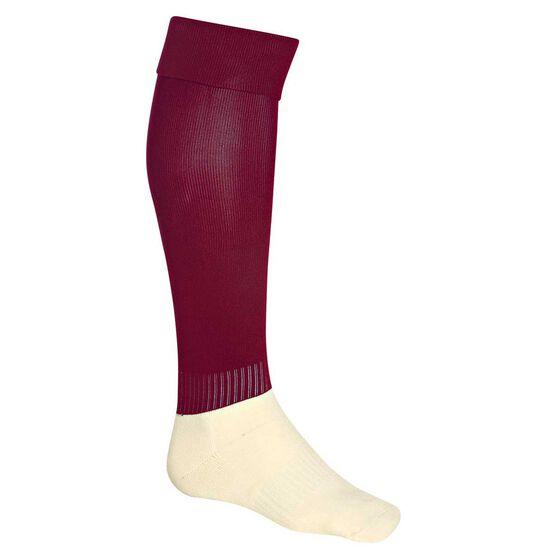 Burley Football Socks, Maroon, rebel_hi-res
