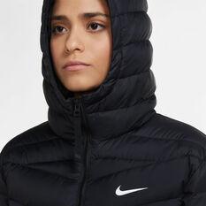 Nike Womens Lightweight Down Windrunner Parka, Black, rebel_hi-res