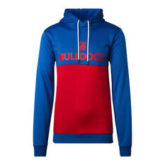 Western Bulldogs 2020 Mens Ultra Hoodie Blue/Red S, Blue/Red, rebel_hi-res