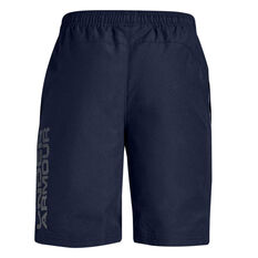 Under Armour Boys Woven Graphic Shorts Navy XS, Navy, rebel_hi-res
