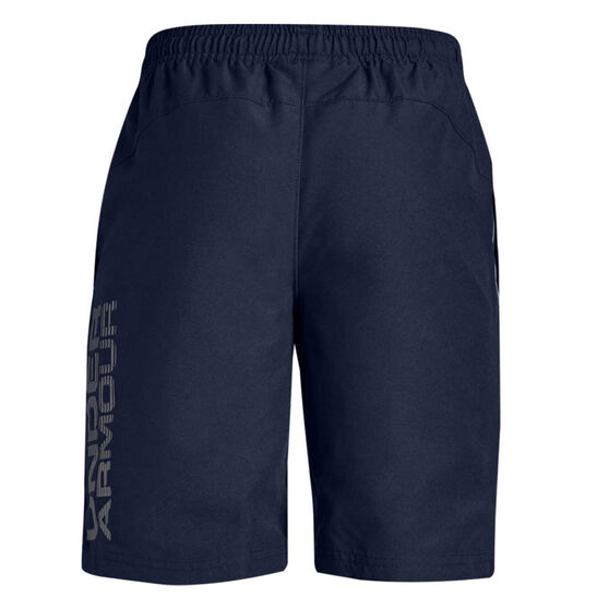 Under Armour Boys Woven Graphic Shorts, Navy, rebel_hi-res