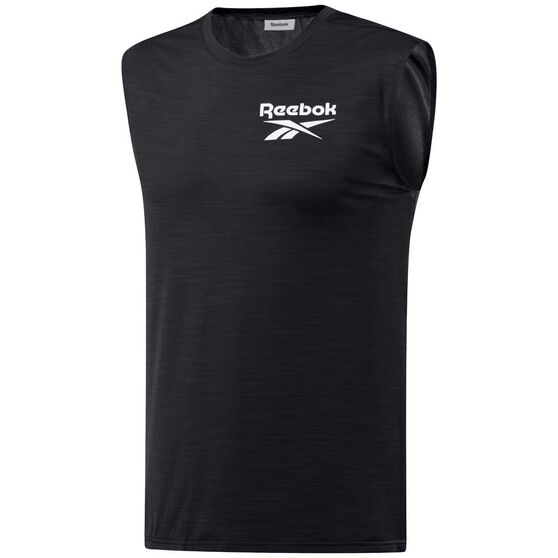 Reebok Mens Workout Ready ACTIVCHILL Muscle Tank, Black, rebel_hi-res