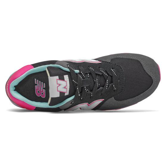 New Balance 574 Kids Casual Shoes, Black/Pink, rebel_hi-res