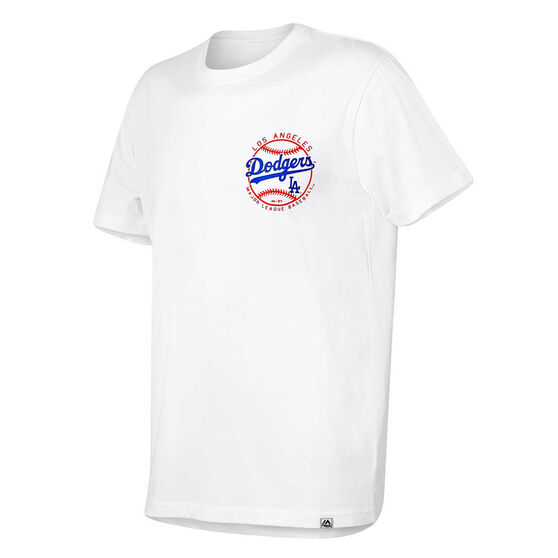 Los Angeles Dodgers Mens Kardy Tee, White, rebel_hi-res