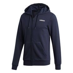 adidas Mens Essentials Plain French Terry Hoodie Navy S, Navy, rebel_hi-res