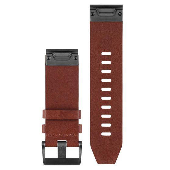 Garmin Fenix 5 QuickFit Leather Band Brown Leather 22mm, , rebel_hi-res