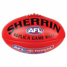Sherrin AFL Replica Game Ball  Red 5, , rebel_hi-res