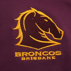 Brisbane Broncos 2020 Kids Performance Polo, Maroon, rebel_hi-res