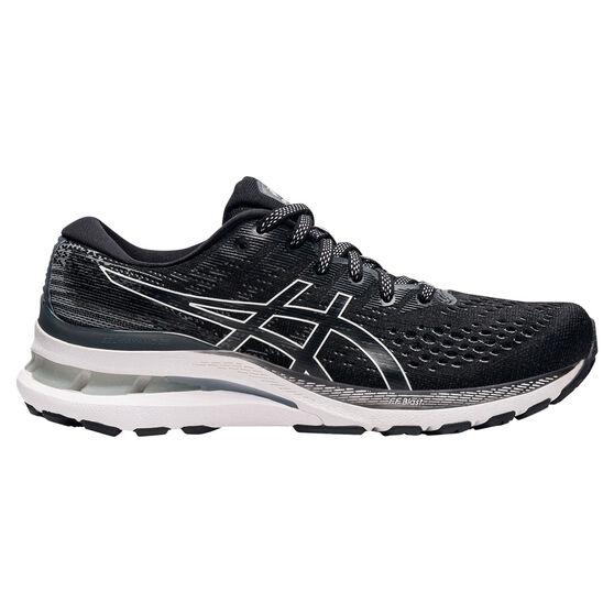 Asics GEL Kayano 28 Womens Running Shoes, Black/White, rebel_hi-res