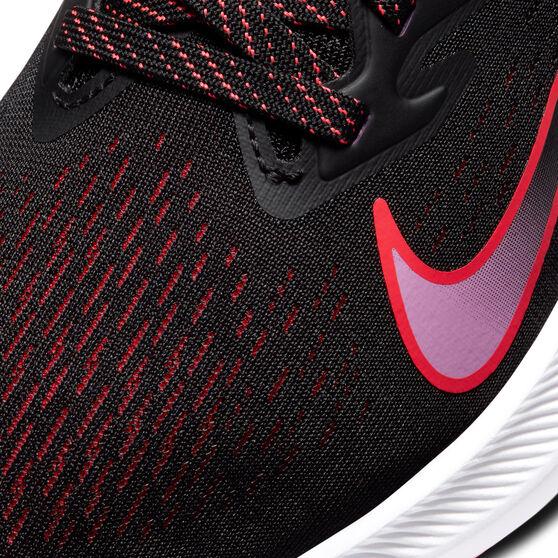 Nike Zoom Winflo 7 Womens Running Shoes, Black, rebel_hi-res