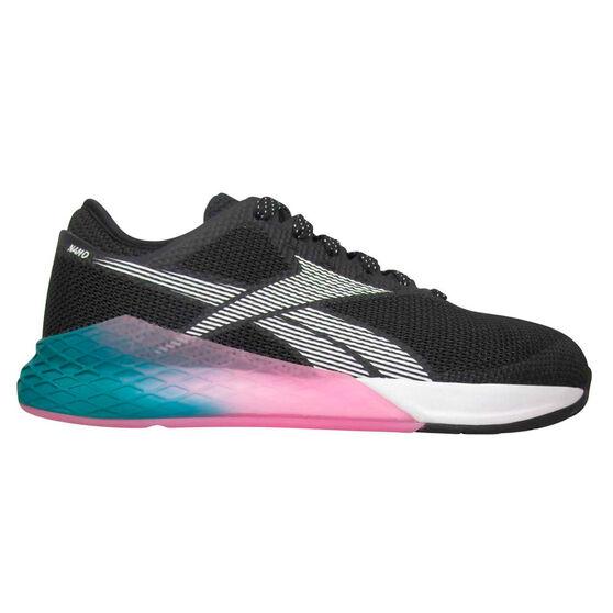 Reebok Nano 9 Womens Training Shoes, Black/Teal, rebel_hi-res