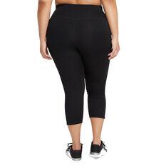 Nike One Womens Capri Tights Black XS, Black, rebel_hi-res