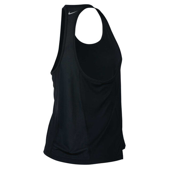 Nike Womens Miler Running Tank, Black, rebel_hi-res