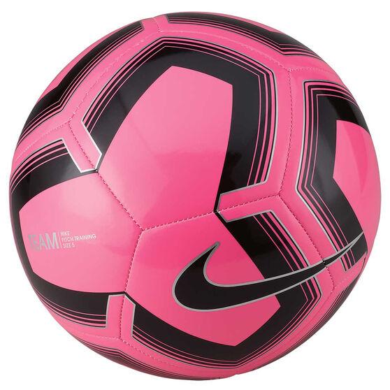 Nike Pitch Training SP19 Soccer Ball, Pink / Black, rebel_hi-res